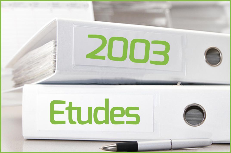 Etudes 2003