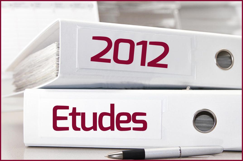 Etudes 2012