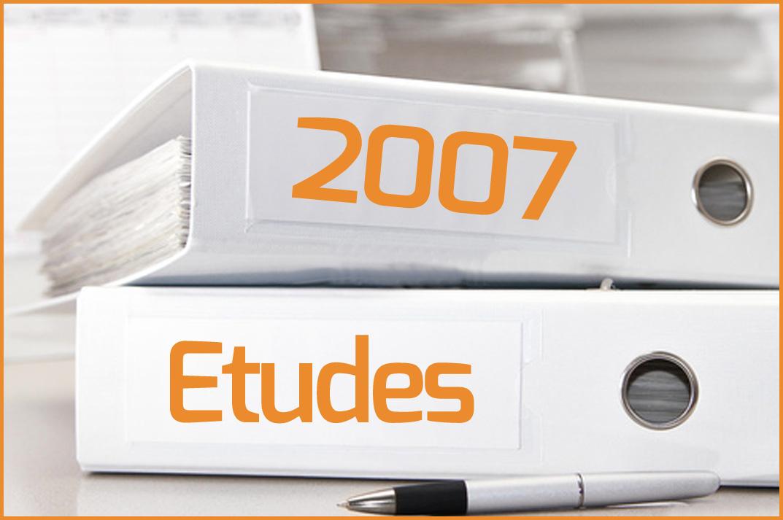 Etudes 2007